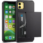 Tough Armour Card Slot Slide Case for Apple iPhone 11 - Black